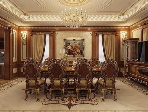Những điều bạn cần lưu ý khi thiết kế nội thất phòng ăn cổ điển