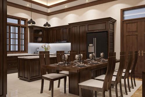 Nội thất phòng ăn bằng gỗ giá rẻ