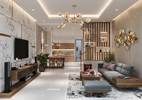 Thiết kế nội thất tiện nghi