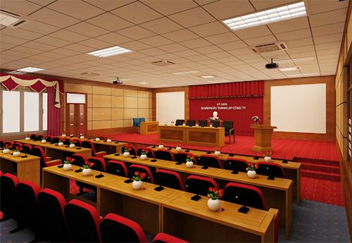 Những lưu ý quan trọng khi bố trí bàn ghế phòng họp hội trường