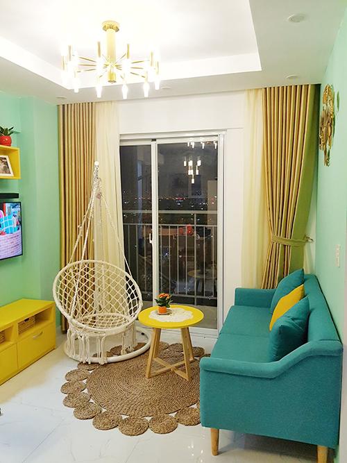 Nội thất phòng khách mini đơn giản, nhỏ gọn